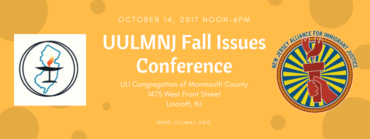 UULMNJ FALL ISSUES CONFERENCE!